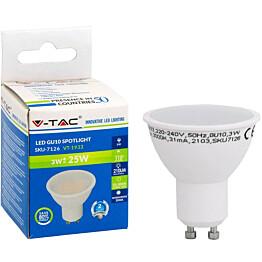 LED-polttimo V-TAC 3W GU10 3000 K, 210 lm, PAR16