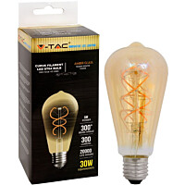 LED-polttimo V-TAC 5W E27 2200 K, 300 lm, ST64, meripihka