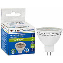 LED-polttimo V-TAC 7 W MR16/GU5.3 3000 K