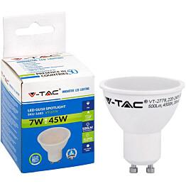 LED-polttimo V-TAC 7W GU10 4500 K, 500 lm, PAR16