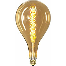 LED-polttimo Star Trading Industrial Vintage E27 S165 6W 2000K himmennettävä meripihka