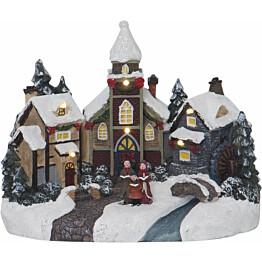LED-pöytäkoriste Star Trading Churchville 230x180x145mm moniväri