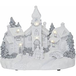 LED-pöytäkoriste Star Trading Churchville 230x180x145mm valkoinen