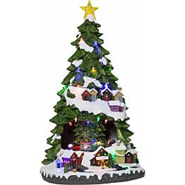 LED-pöytäkoriste Star Trading Largeville Joulukuusi 450x270x290mm