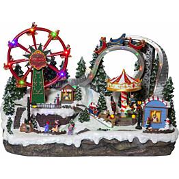 LED-pöytäkoriste Star Trading Largeville Tivoli 360x540x330mm