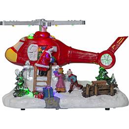 LED-pöytäkoriste Star Trading Merryville Helikopteri 140x210x140mm