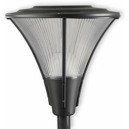 LED-pylväsvalaisin Ensto Opera Deco OPD530LGH, 38W/840, grafiitinharmaa, akryylikuvulla
