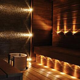 LED-saunavalosarja FTLight Saunaset Premium 9-osainen 3500 K messinki