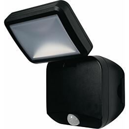 LED-seinävalaisin Ledvance Battery Spotlight Single paristokäyttöinen, musta, liiketunnistin