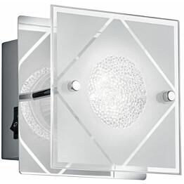 LED-seinävalaisin Trio Mara 120x120 mm kromi