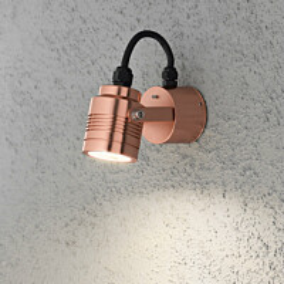 LED-seinävalaisin Monza 7903-900 80x130x80 mm kupari