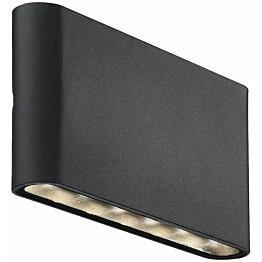 LED-seinävalaisin Nordlux Kinver ylös/alas musta