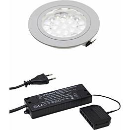 LED-spottivalo Hafa ø 55 mm 1,65 W IP44 kromi + muuntaja
