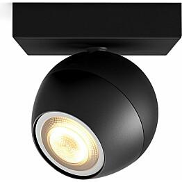 LED-spottivalaisin Philips Hue Buckram 5.5W musta