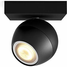 LED-spottivalaisin Philips Hue Buckram 5.5W musta kaukosäädin