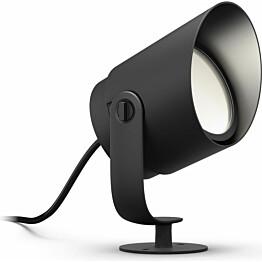 LED-spottivalaisin Philips Hue Lily XL WACA LV EU 15W musta