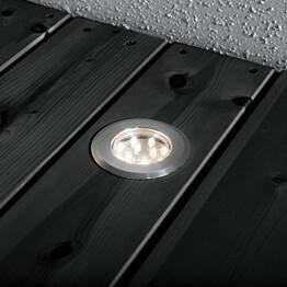 LED-terassivalaisinsarja Konstsmide Mini LED 7465-000 3x0.72W teräs 3-osainen