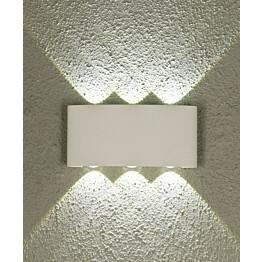 LED-ulkoseinävalaisin Aneta Triad IP54 ylös-alasvalo valkoinen