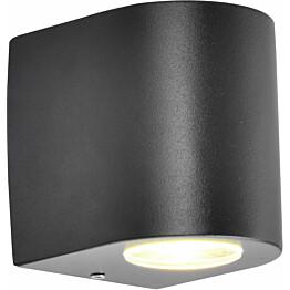 LED-ulkoseinävalaisin FTLight Diva 65x95x145 mm ylös/alas tummanharmaa