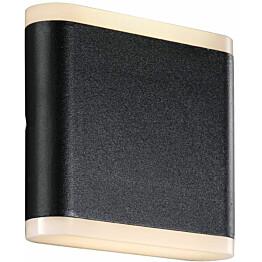 LED-ulkoseinävalaisin Nordlux Akron 11, 107x115x52mm, musta