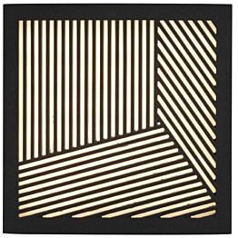 LED-ulkoseinävalaisin Nordlux Maze Straight, 180x180x40mm, musta
