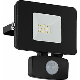 LED-ulkoseinävalaisin/-valonheitin Eglo Faedo 135x110 mm liiketunnistimella musta