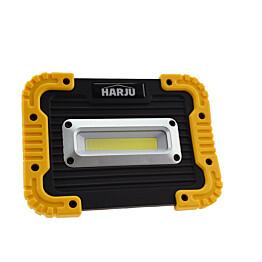 LED-valonheitin Harju Niro 10W IPX4 ladattava 4000K musta/keltainen