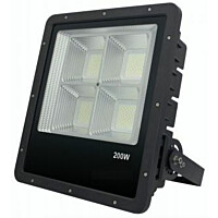 LED-valonheitin FTLight Work Platinum 200 W 4500 K 409x372x104 mm musta