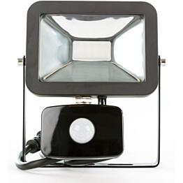 LED-valonheitin LED Energie Cspot 20 W IP43 1600lm musta liiketunnistimella