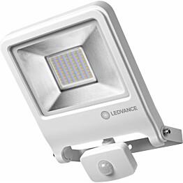 LED-valonheitin Ledvance Endura Flood 50W, 3000K, valkoinen, liiketunnistin