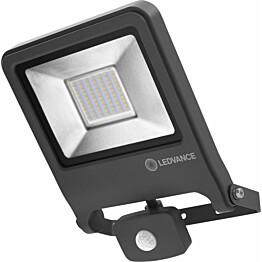 LED-valonheitin Ledvance Endura Flood 50W, 4000K, tummanharmaa, liiketunnistin