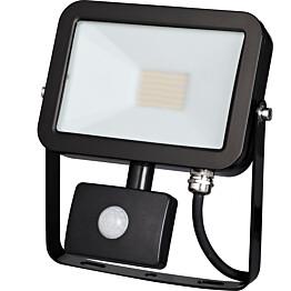LED-valonheitin Harju 30W IP44 liikketunnistimella musta