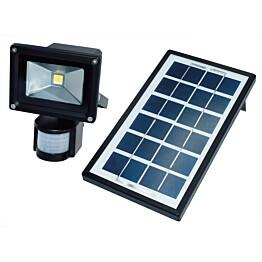 LED-valonheitin ElectroGEAR 4W IP44 aurinkokennolla ja liiketunnistimella