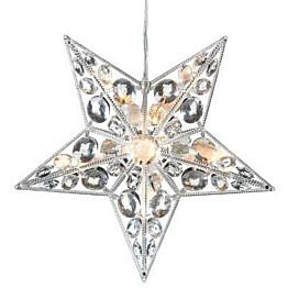 LED-valotähti Markslöjd Härnösand 30x7.5x30 cm akryyli läpinäkyvä