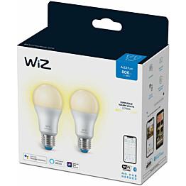 LED-älylamppu WiZ A60 Dimmable, Wi-Fi, 8W, E27, himmennettävä, 2kpl/pkt