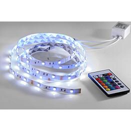 LED nauha LeuchtenDirekt Teania 16,8W 230V RGB 360lm IP20 valkoinen