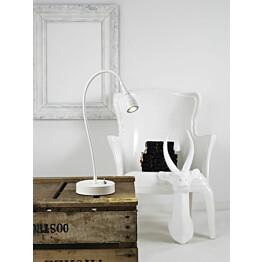 LED-pöytävalaisin Mento Ø 35x390 mm valkoinen käytössä