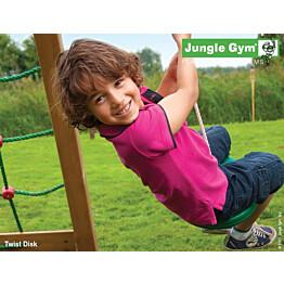 Leikkikeskuksen lisäosa Jungle Gym Twist Disc, vihreä