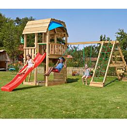 Leikkikeskus Jungle Gym Barn ja Climb Module X'tra sis. liukumäen