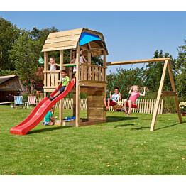 Leikkikeskus Jungle Gym Barn ja Swing Module X'tra sis. liukumäen