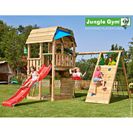 Leikkikeskus Jungle Gym Barn sis. kiipeilymoduuli ja liukumäki