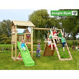 Leikkikeskus Jungle Gym Casa sis. kiipeilymoduuli ja liukumäki