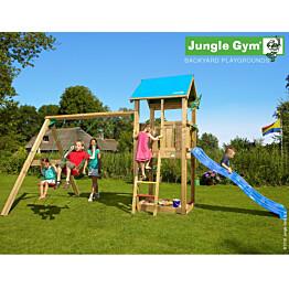 Leikkikeskus Jungle Gym Castle sis. keinumoduuli ja liukumäki