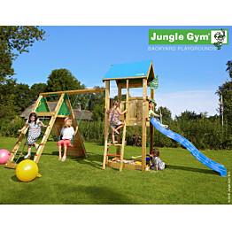 Leikkikeskus Jungle Gym Castle sis. kiipeilymoduuli ja liukumäki
