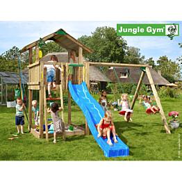 Leikkikeskus Jungle Gym Chalet sis. keinumoduuli ja liukumäki