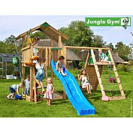 Leikkikeskus Jungle Gym Chalet sis. kiipeilymoduuli ja liukumäki