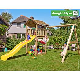Leikkikeskus Jungle Gym Cottage sis. keinumoduuli ja liukumäki