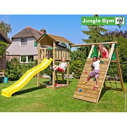 Leikkikeskus Jungle Gym Cottage sis. kiipeilymoduuli ja liukumäki