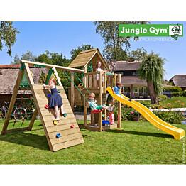 Leikkikeskus Jungle Gym Cubby sis. liukumäki ja kiipeilymoduuli