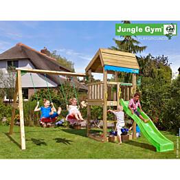 Leikkikeskus Jungle Gym Home sis. keinumoduuli ja liukumäki